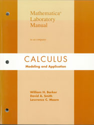 Mathematica Laboratory Manual, to accompany Calculus: Modeling and Application